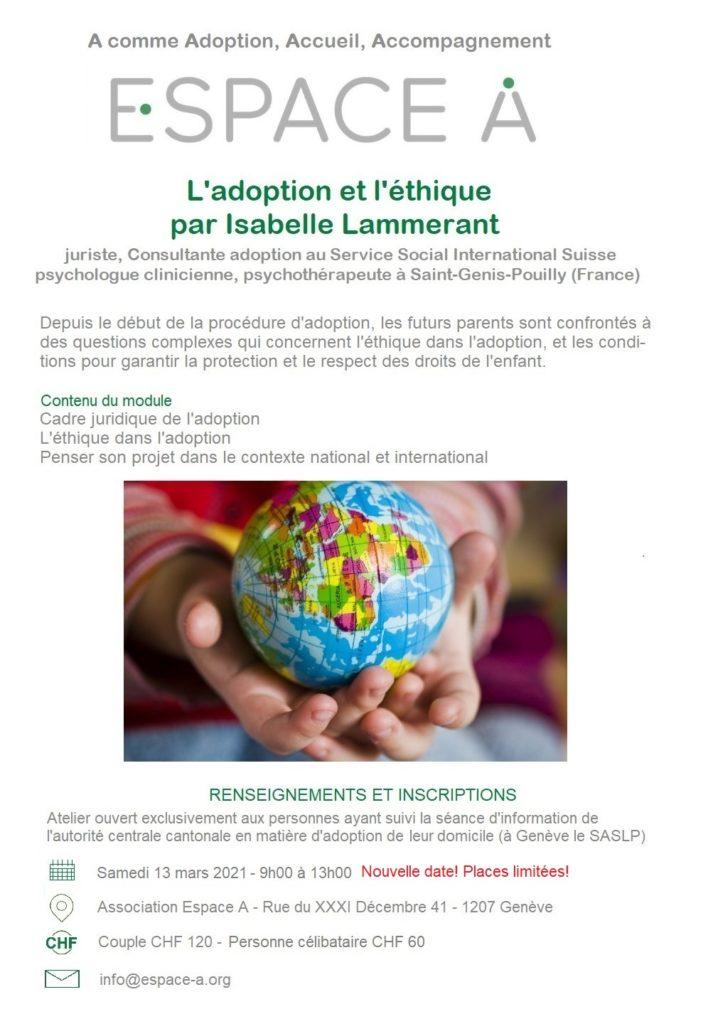 Flyer éthique et adoption