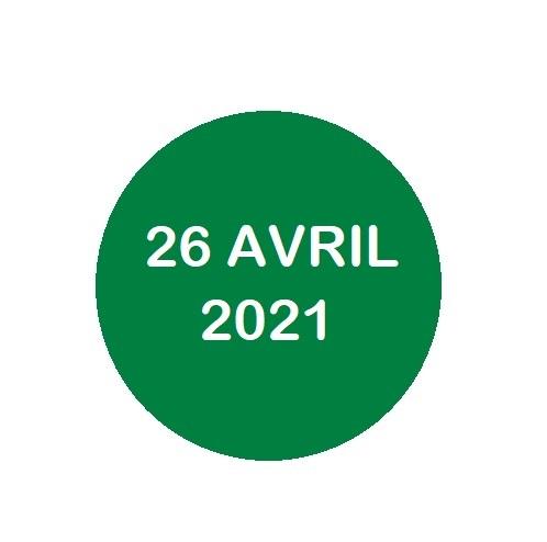 26 avril 2021